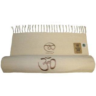 FITNESS MAD Organic Cotton Yoga Rug 200x70 cm 100% organisch katoen 1.2kg Naturel