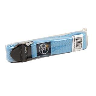 FITNESS MAD Yoga Belt 2.5m (38mm breed) 100% katoen ideaal voor lyengar yoga Cinch Blauw