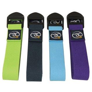 FITNESS MAD Yoga Belt 2m (38mm breed) 100% katoen Cinch Paars
