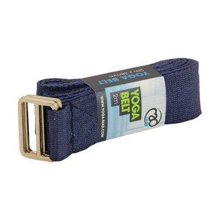 FITNESS MAD Lightweight Yoga Belt 2m (38mm wide) 100% cotton Blue