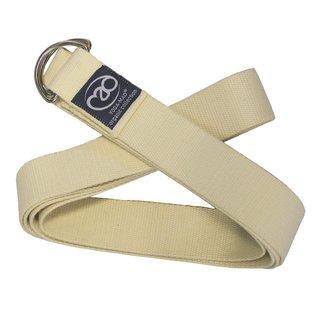 FITNESS MAD Yoga strap belt 2.5 meter 38 mm D Ring Organisch katoen Unbleached