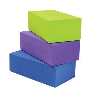 FITNESS MAD High density Yoga Brick 220 x 110 x 709 mm hoogwaardig EVA Paars