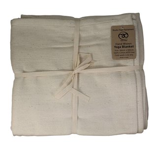 FITNESS MAD Cotton Yoga Blanket 150x200 cm Natural
