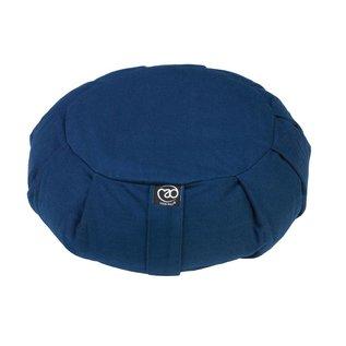 FITNESS MAD Pleated Round Zafu 100% katoen boekweitdop vulling 35x18cm 2.5kg Blauw