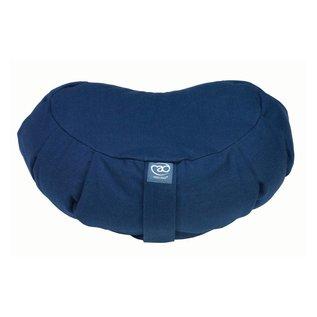 FITNESS MAD Pleated Crescent Zafu 100% katoen boekweitdop vulling 43x30 cm 18 cm achter 11cm voor 2.5kg Blauw