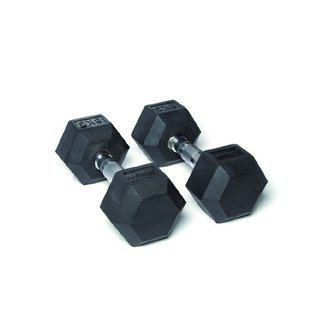 O'LIVE FITNESS O'LIVE RUBBER HEX DUMBBELLS 22.5 kg Pair