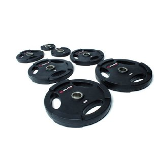 O'LIVE FITNESS O'LIVE OLYMPISCHE RUBBER SCHIJVEN 25 kg 50 mm