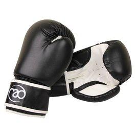 FITNESS MAD Junior PVC Sparring Gloves Kick- Bokshandschoenen Junior Synthetish leer 6oz Zwart Wit
