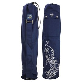 FITNESS MAD Wildflower Yoga Mat Bag 63 x 14.5cm 100% cotton blue