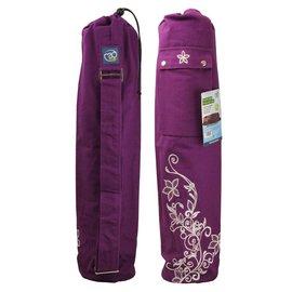 FITNESS MAD Sac pour tapis de Yoga Wildflower 63 x 14.5 cm 100% coton Violet