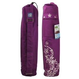FITNESS MAD Wildflower Yoga Mat Bag 63 x 14.5 cm 100% cotton Purple