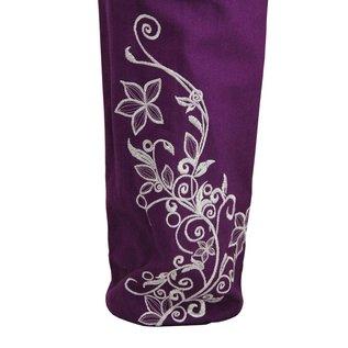 FITNESS MAD Wildflower Yoga Mat Bag 63 x 14.5cm 100% katoenen draagtas met opbergvak en draaggordel voor matten tot 183 x 61 x 0.6 cm donker Paars