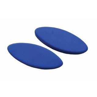 FITNESS MAD Egg Yoga Block 305 x 120 x 75 mm eivormig yoga blok zeer ergonomisch hoogwaardig EVA Blauw