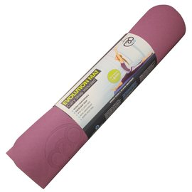 FITNESS MAD Evolution Yoga Mat Deluxe 6mm with Carry String Purple Grey