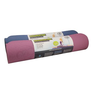 FITNESS MAD Evolution Yoga Mat Deluxe 6mm with Carry String Purple Grey 183 x 61 x 0.6 cm (1.5kg) super soft hygienic