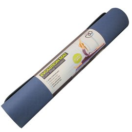 FITNESS MAD Evolution Yoga Mat Deluxe 6mm with Carry String Blue Grey