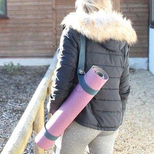 FITNESS MAD Evolution Plus Pilates Yoga Mat 183 x 61 x 0.6 cm (1.5kg) super soft hygienisch tweekleurig TPE Blauw Grijs