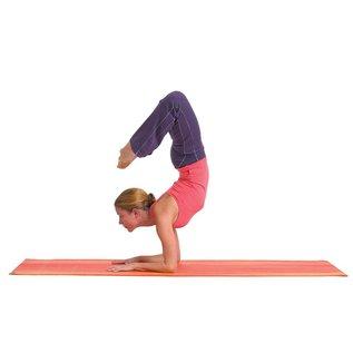 FITNESS MAD Warrior Plus Yoga Mat Sunset 183 x 61 x 0.6 cm (1.6kg) extra dikke yoga mat van 6 mm ongeverfd PVC AZO en DOP vrij Rood Oranje