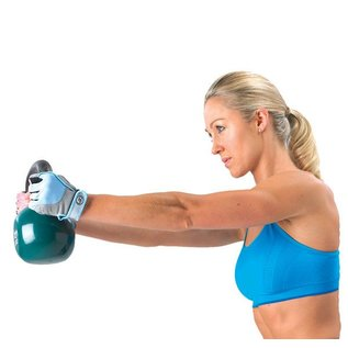 FITNESS MAD Fitness handschoenen paar Cross Training Almara kunstleer maat S (Small) Grijs licht blauw