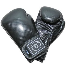 FITNESS MAD PU Carbon Sparring Gloves Kick- Bokshandschoenen PU Carbon 12oz Zwart