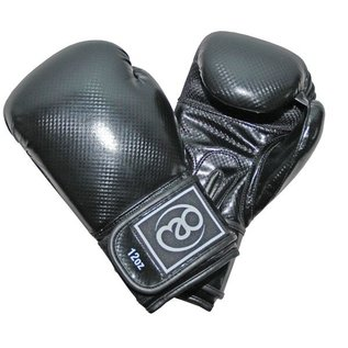 FITNESS MAD PU Carbon Sparring Gloves Kick- Bokshandschoenen PU Carbon 12oz Zwart