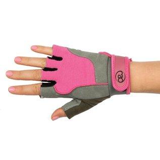 FITNESS MAD Fitness handschoenen paar Cross Training Almara kunstleer maat S (Small) Grijs Roze