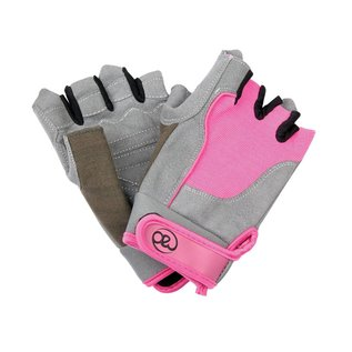 FITNESS MAD Fitness handschoenen paar Cross Training Almara kunstleer maat M (Medium) Grijs Roze