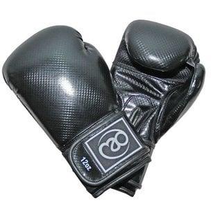 FITNESS MAD PU Carbon Sparring Gloves Kick 10oz Black