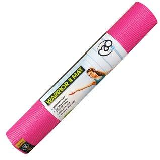 FITNESS MAD Fitness Mad Yoga Mat 4mm 183x61cm Warrior II 1.1kg PVC AZO DOP vrij Roze