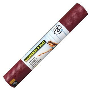 FITNESS MAD Warrior Yoga Mat Fitnessmat 4 mm 183 x 61 cm (1.1kg) Burgundy