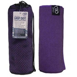 FITNESS MAD Grip Dot Yoga Mat Towel 183 x 60 cm Purple