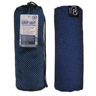 FITNESS MAD Grip Dot Yoga Mat Towel 183 x 60 cm Blue