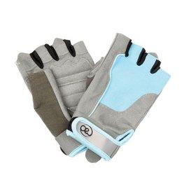 FITNESS MAD Fitness handschoenen paar Cross Training Almara kunstleer maat M (Medium) Grijs licht blauw