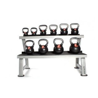 O'LIVE FITNESS O'LIVE KETTLEBELLS KIT A 10 cast iron kettlebells + rack MU06400