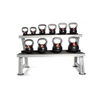 O'LIVE FITNESS O'LIVE KETTLEBELLS KIT Een 10 cast iron kettlebells + rack MU06400