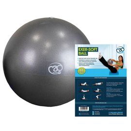 FITNESS MAD Fitness Mad Exer-Soft Pilates Coach Balance Ball 12 inch 30 cm Grey