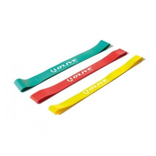 O'LIVE FITNESS O'LIVE LOOPS Fitness Resistance Band Medium - Red