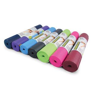 FITNESS MAD Fitness Mad Yoga Mat Fitnessmat 4mm 183x61cm WarriorII 1.1kg PVC AZO DOP vrij Paars
