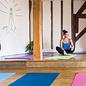 FITNESS MAD Fitness Mad Yoga Mat Fitnessmat 4mm 183x61cm WarriorII 1.1kg PVC AZO DOP vrij Graphite