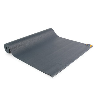 FITNESS MAD Fitness Yoga Mat Fitnessmat 4mm 183x61cm WarriorII 1.1kg 4mm PVC AZO DOP free Graphite