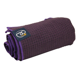 FITNESS MAD Fitness Mad Yoga mat handdoek anti slip 183cm Aubergine