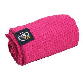 FITNESS MAD Fitness Mad Yoga mat handdoek anti slip 183cm Roze Pink
