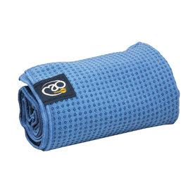 FITNESS MAD Fitness Mad Yoga mat handdoek anti slip 183cm Blauw