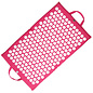 FITNESS MAD Fitness Yoga Mad Acupressuur mat spijkermat Roze Hot Pink Acupressure Bed of Nails Shiva Mat 67x41 cm 1kg opvouwbaar 100% katoen