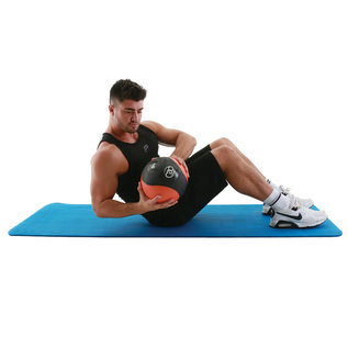 FITNESS MAD Fitness Mad Stretch Fitness Mat 10mm 182x58cm NBR Blauw Strap