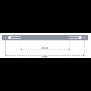 FITNESS MAD Studio Core Fitness Mat regelbaar rek verstelbaar rek 36-50cm diameter 1,95 cm Zwart