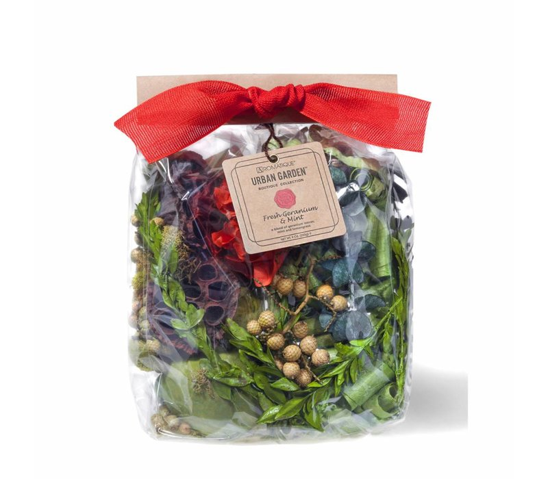 Fresh Geranium & Mint Pocketbook Bag