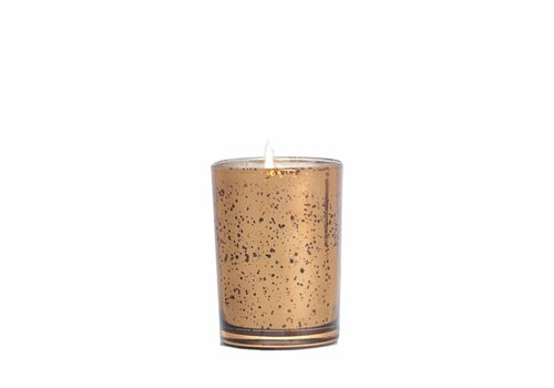Bourbon & Bergamot Metallic  Votive Candle