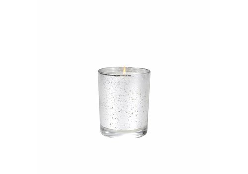 White Teak & Moss Metallic Votive