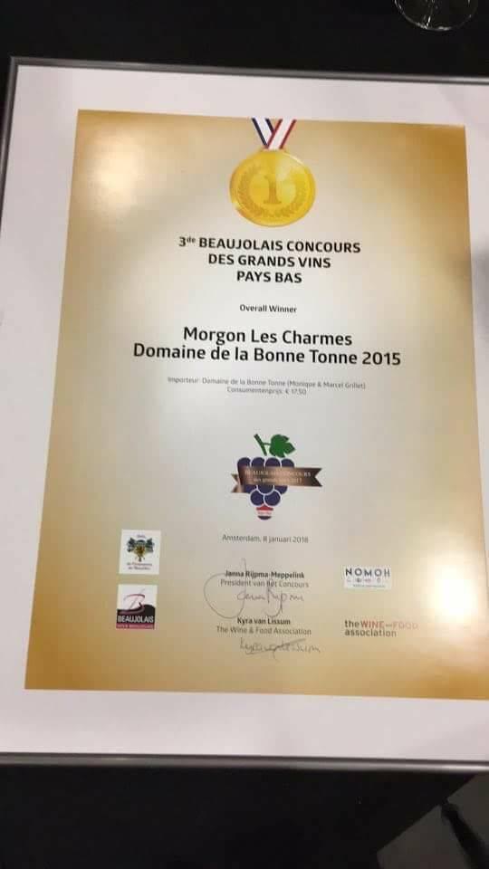 """Domaine Bonne Tonne Morgon """"Les Charmes"""" 2016"""